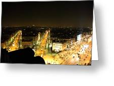 View From Arc De Triomphe - Paris France - 011316 Greeting Card by DC Photographer