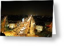 View From Arc De Triomphe - Paris France - 011318 Greeting Card by DC Photographer