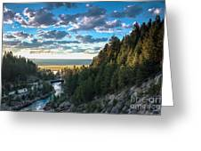 View From Cascade Dam Of The North Fork Of The Payette River Greeting Card by Robert Bales