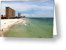 View From Dan Russell Municipal Pier Panama City Beach Greeting Card by Vicki Kennedy