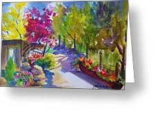 View From My Studio Door Greeting Card by Therese Fowler-Bailey