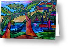 View From My Villa Greeting Card by Patti Schermerhorn