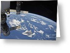 View From Space Showing Part Greeting Card by Stocktrek Images