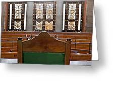 View Into Courtroom From Judges Chair Greeting Card by Ken Biggs