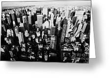View North And Down Towards Central Park From Empire State Building Greeting Card by Joe Fox