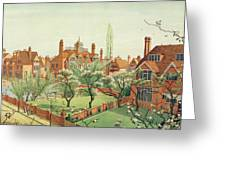 View Of Bedford Park Greeting Card by English School
