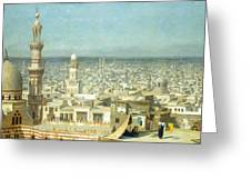View Of Cairo Greeting Card by Jean Leon Gerome