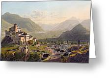 View Of Sion, Illustration From Voyage Greeting Card by Gabriel L. & Lory, Mathias G. Lory