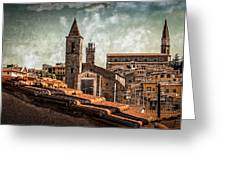View Over Arezzo Greeting Card by Hugo Bussen
