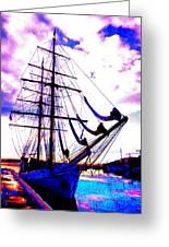 Vikings Go Sailing Greeting Card by Hilde Widerberg