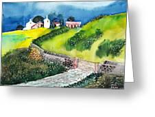 Villa Greeting Card by Anil Nene