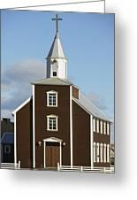 Village Church Of Eyrarbakki Greeting Card by Michael Thornton