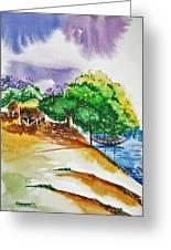 Village Landscape Of Bangladesh 3 Greeting Card by Shakhenabat Kasana
