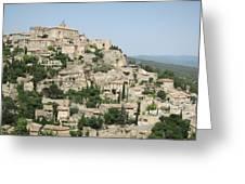 Village Of Gordes Greeting Card by Pema Hou