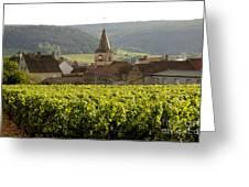 Village Of Monthelie. Burgundy. France Greeting Card by Bernard Jaubert