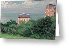 Villas At Villers-sur-mer Greeting Card by Gustave Caillebotte