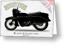 Vincent Black Knight 1955 Greeting Card by Mark Rogan