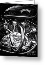 Vincent Engine Greeting Card by Tim Gainey