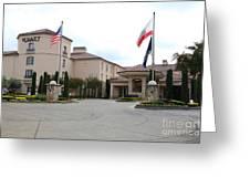 Vineyard Creek Hyatt Hotel Santa Rosa California 5d25787 Greeting Card by Wingsdomain Art and Photography