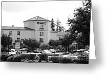 Vineyard Creek Hyatt Hotel Santa Rosa California 5d25866 Bw Greeting Card by Wingsdomain Art and Photography