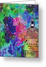 Vino  Greeting Card by Ana Julia Fishman