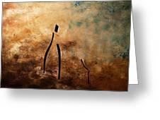 Vino De Arte Moderno Greeting Card by Carmen Guedez