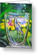 Vinsanchi Glass Art-2 Greeting Card by Vin Kitayama