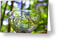 Vinsanchi Glass Art-4 Greeting Card by Vin Kitayama