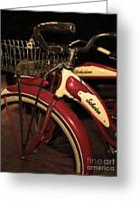 Vintage 1941 Boys And 1946 Girls Bicycle 5d25760 Vertical Sepia2 Greeting Card by Wingsdomain Art and Photography