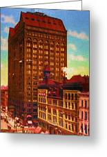 Vintage Chicago - Masonic Temple - 1901 Greeting Card by Ben Thompson