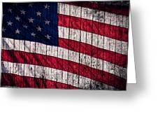 Vintage American Flag Greeting Card by Leslie Banks