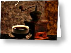 Vintage Aroma Greeting Card by Lourry Legarde