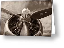Vintage B-17 Greeting Card by Adam Romanowicz