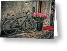 Vintage Bicycle Greeting Card by Dobromir Dobrinov