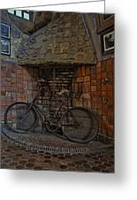 Vintage Bicycle Greeting Card by Susan Candelario