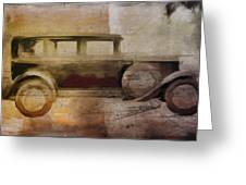 Vintage Buick Greeting Card by David Ridley