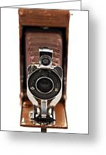 Vintage Camera Greeting Card by John Rizzuto