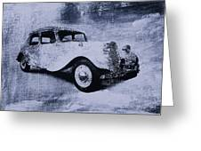Vintage Car Greeting Card by David Ridley