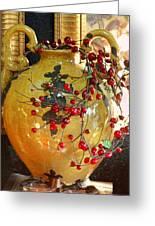 Vintage Ceramic Urn Greeting Card by Linda Phelps