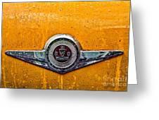 Vintage Checker Taxi Greeting Card by John Farnan
