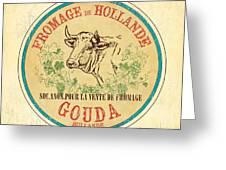 Vintage Cheese Label 1 Greeting Card by Debbie DeWitt