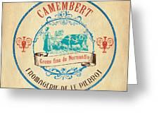 Vintage Cheese Label 3 Greeting Card by Debbie DeWitt