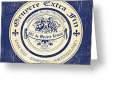 Vintage Cheese Label 5 Greeting Card by Debbie DeWitt