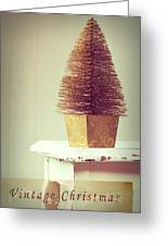 Vintage Christmas Treee Greeting Card by Amanda And Christopher Elwell