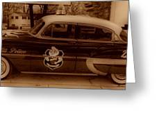 Vintage Classic D.a.r.e. Police Car Greeting Card by Thomas  MacPherson Jr