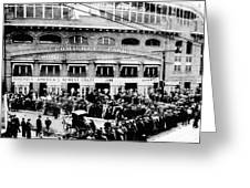 Vintage Comiskey Park - Historical Chicago White Sox Black White Picture Greeting Card by Horsch Gallery