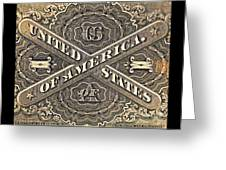 Vintage Currency Greeting Card by Chris Berry