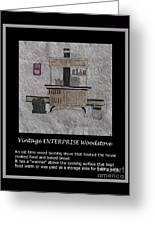 Vintage Enterprise Woodstove Greeting Card by Barbara Griffin