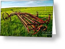 Vintage Farm Equipment II - Blue Ridge Greeting Card by Dan Carmichael
