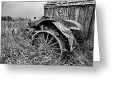 Vintage Farm Tractor Greeting Card by Theresa Tahara